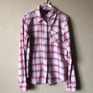 Paige Red/Blue Plaid Button-Down Long Sleeve Shirt